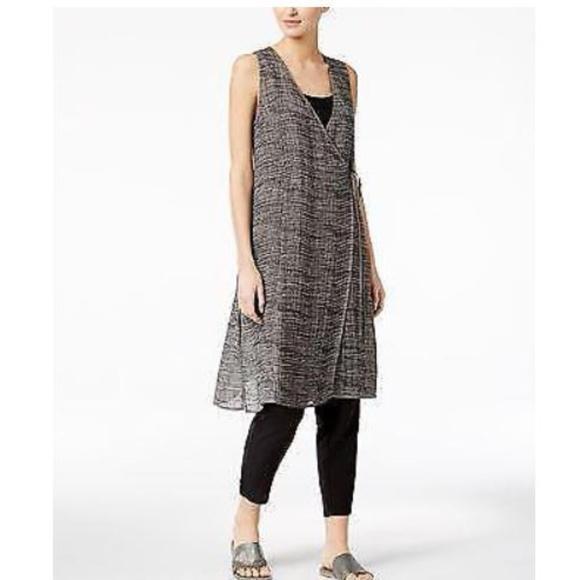 ab322f80bbb Eileen Fisher Organic Linen Gauze Strata Tunic L